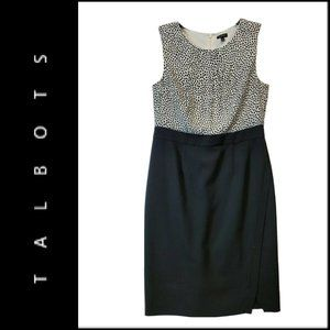 Talbots Women Sleeveless Sheath Dress Size 8 Black